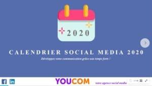 calendrier social media 2020 YOUCOM